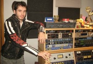 Eric Steckel with recording equipment