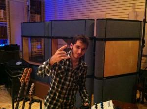 Eric Steckel in studio