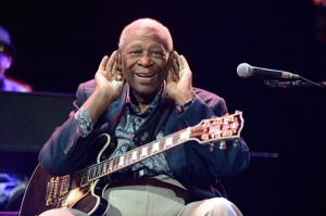 B.B. King performs at the Crossroads Guitar Festival. (Photo by Kevin Mazur/WireImage)
