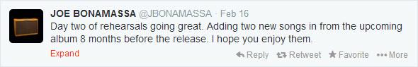 JB New Album Tweet