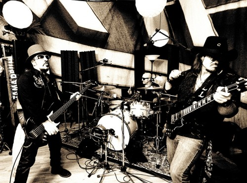 Fabrizio, Kenny Aronoff, and Lance Lopez form Supersonic Blues Machine.